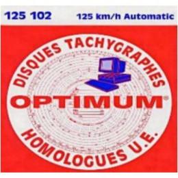Disque tachygraphe 125km/h sans compte tour (boîte de 100)