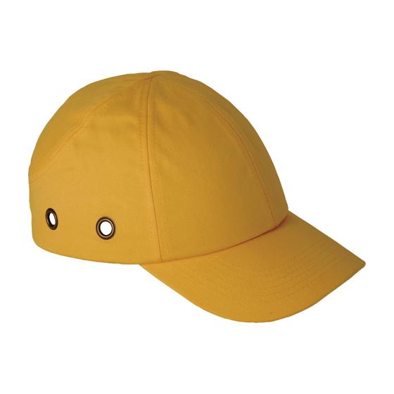 Casquette de sécurité jaune
