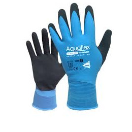 Gant double enduction latex bleu +latex foam noir support nylon